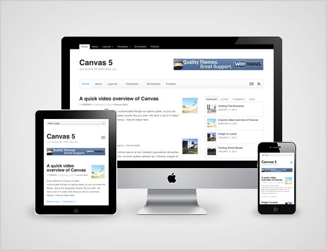 Canvas is responsive!